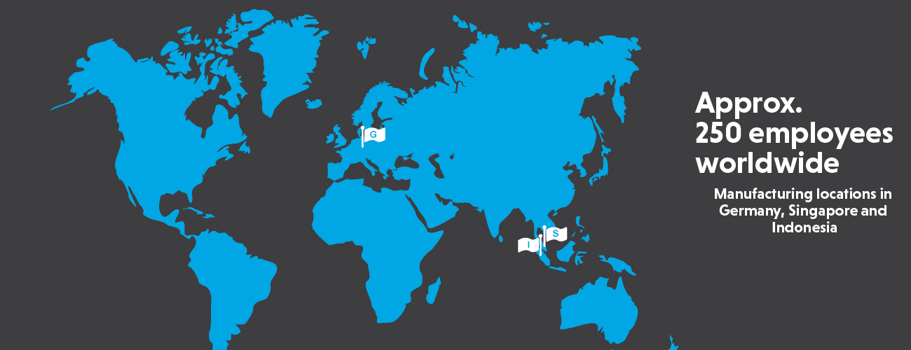 Our international manufacturing locations are in Singapore and Indonesia.